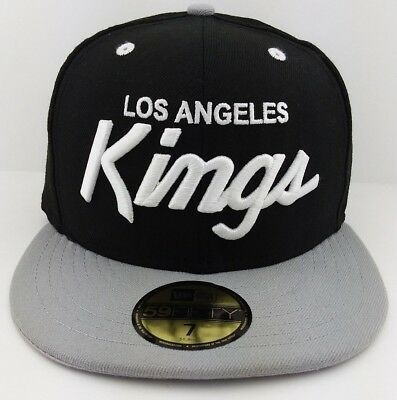finest selection ec771 f25bc Los Angeles Kings NHL New Era 59FIFTY fitted hat cap Black   Grey