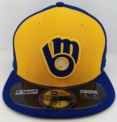 save off ae643 2b3f1 ... official store milwaukee brewers mlb new era 59fifty fitted hat  baseball capthrowback logo b3724 97a69