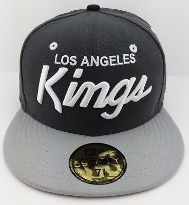 online retailer fbac6 cbd85 Los Angeles Kings NHL New Era 59FIFTY fitted hat cap Script logo