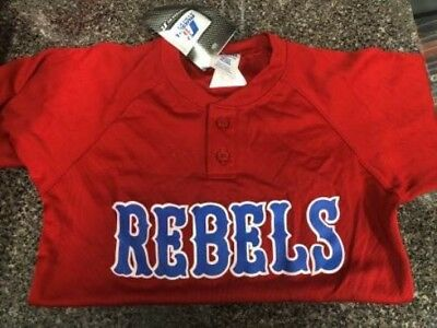 """Youth Jersey Red And Blue """"rebels"""" Yxs And Ym"""