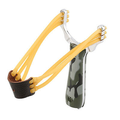 New Outdoor Powerful Steel Catapult Slingshot Marble Hunting Games Sling Shot *1