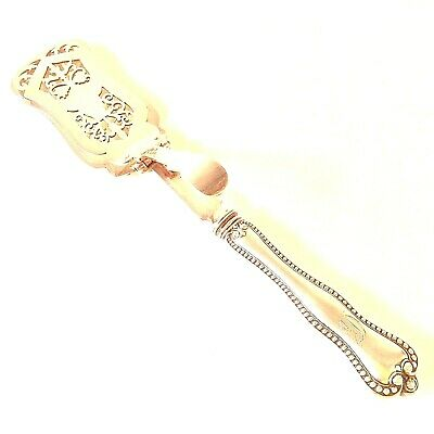 Sterling Silver Handle Pastry Dessert Tongs Toast Beaded Mono Mechanical Th&S