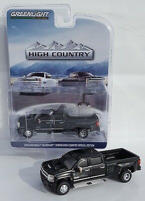 1:64 GreenLight *BLACK* 2018 Chevrolet Silverado 3500 HD DURAMAX DUALLY Pickup
