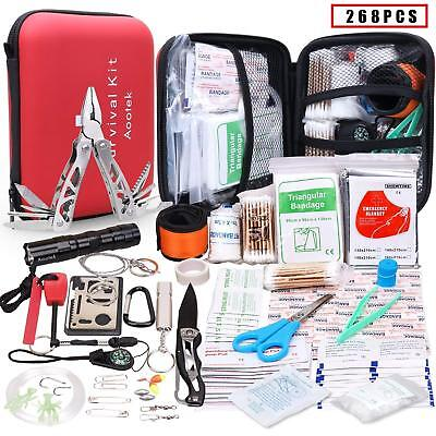 Aootek Upgraded first aid survival Kit.Emergency Kit earthquake survival kit Bag