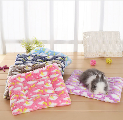 Soft Winter Warm Cozy Pet Mat Blanket Hamster Rabbit Guinea Pig Sleeping Bed Mat