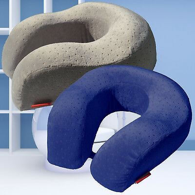 EcoWayLiving Memory Foam Larger U Shape Travel Neck Pillow Airplane Car Cushion
