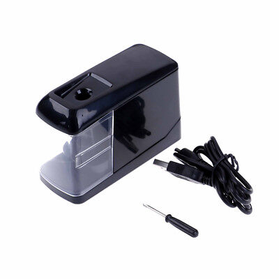 Electric Pencil Sharpener Automatic Battery Operated Powered USB Desktop