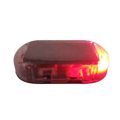 Car Solar Powered LED Alarm Warning Light Anti-theft Flashing Safety Red Lamp