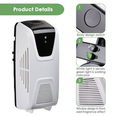 Automatic Light Sensor Aerosol Air Cleaner Dispenser Fragrance Spray Plastic
