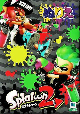Splatoon 2 NINTENDO Game character Coloring book SHOWA Nurie A5  Free Shipping