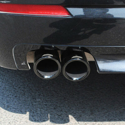 For BMW 5 Series F10 F11 F07 GT Car Rear Tail End 1x2 Tips Pipe Exhaust Muffler