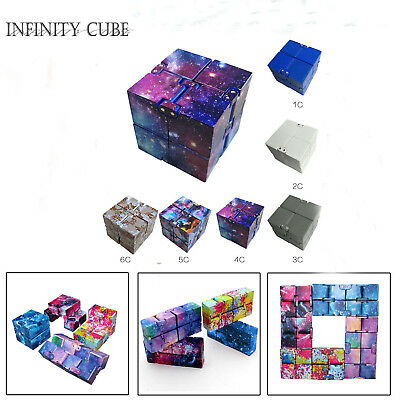 Galaxy Infinity Cube EDC Mini For Stress Relief Fidget Anti Anxiety Magic