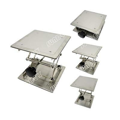 "NEW! Brand New High Quality Lab jack lift support adjustable stainless 8""× 8"""