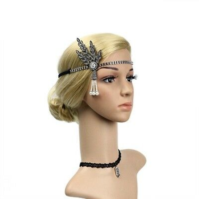 1920s Flapper Great Gatsby Lady Headband Pearl Charleston Party Bridal Headpiece