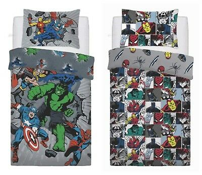 Official Marvel Comics Duvet / Quilt Cover Bedding Sets - Single OR Double Bed