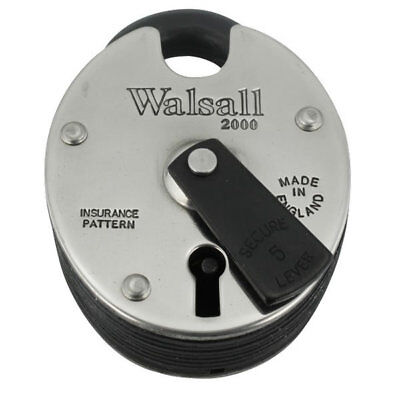 Walsall 5 Lever Heavy Duty Padlock Keyed to Differ