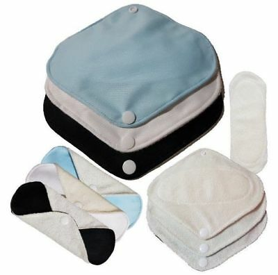 3x, 6x Bamboo Cloth Pantiliners Everyday Sanitary Napkin Washable 18cm