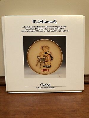 1993 M.j. Hummel Goebel Annual Plate ~ West Germany ~ With Box
