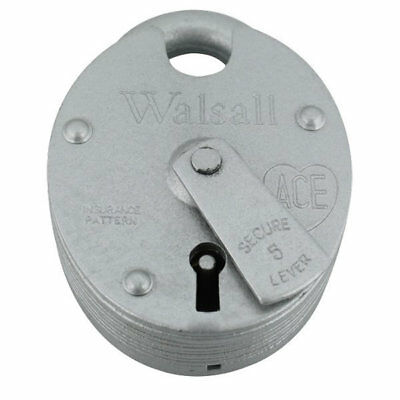 Walsall 5 Lever Padlock Keyed to Differ