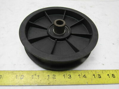 """5-5/8"""" OD Flat Belt Pulley 1"""" Flanged 1/2"""" Bore"""