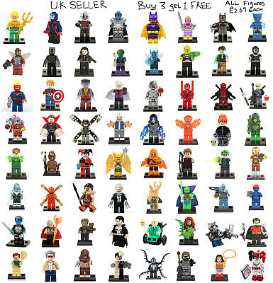 Marvel & DC Minifigure Spider Man Joker Avengers Batman Mini Figure £2.49 Each