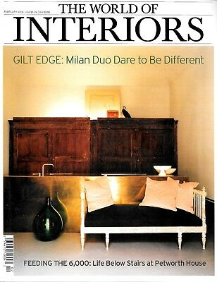 The World of Interiors Magazine February 2008 Design Decorating Art Antiques