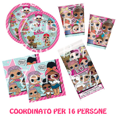 Kit Compleanno Coordinato Festa A Tema Lol Surprise Party Bambina Bamboline