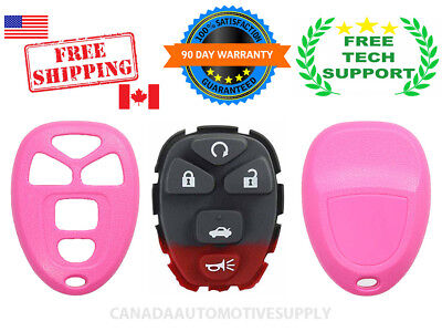 1 Replacement Keyless Remote Fob Shell For GM Chevy 15912860 PINK SHELL OUC60270
