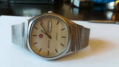 1970s Rado VOYAGER Automatic Swiss Made Day Date Men's Vintage Watch
