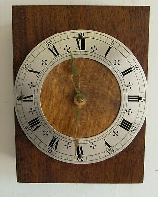 An Upcycled Mantel Or Wall Quartz Clock - Wood With Vintage  Dial & Fingers