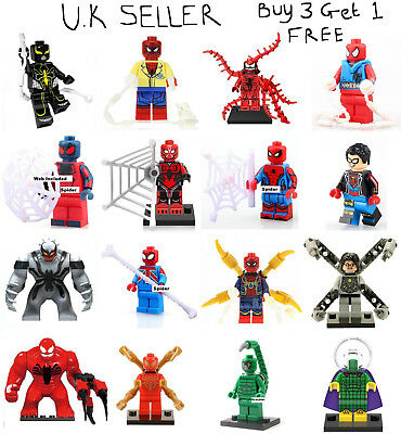 Spider Man Spider-Man Spiderman Minifigure Venom Deadpool Mysterio Mini Figure