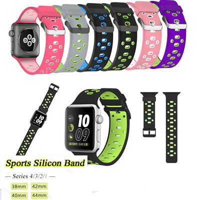 Silicone Sport Loop Bracelet Watch Band Strap For Apple iWatch Series 1/2/3/4