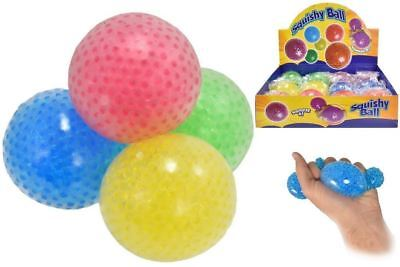1-12x Squishy Beads Balls Squeezy Slime Stress Relief Kids Party Bag Filler Toy