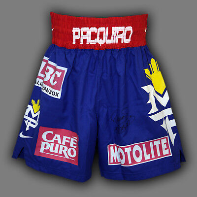 *New* Manny Pacquiao Hand Signed Custom Made Boxing Trunks : A
