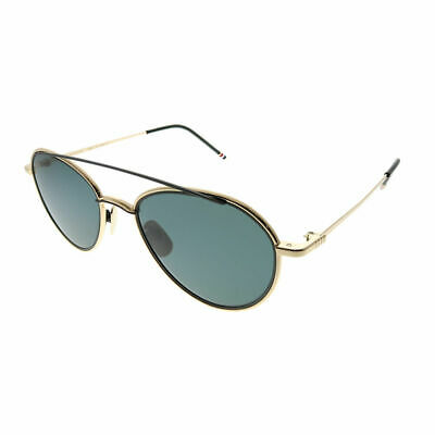 adffe05a391 THOM BROWNE TB-109 A-T-GLD-BLK-53 White Gold Black Iron Sunglasses ...