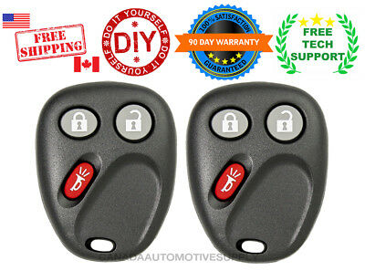 2 New Replacement Keyless Entry Remote Control Key Fob For Chevy Cadillac LHJ011