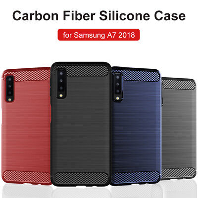 For Samsung Galaxy A7 2018 A6 A8 J4+ J6+ Soft Rubber TPU Shockproof Case Cover