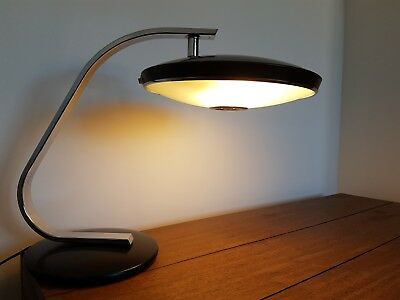 Original vintage mid-century modernist style lamp by Fase of Madrid