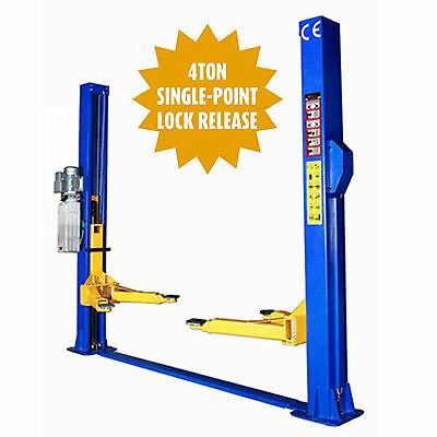 One Side Release 2 Post Lift Car Vehicle Ramp Lift Hoist 4 Ton Tonne Two Post