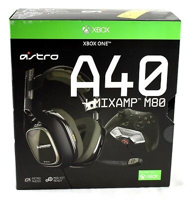 Astro Gaming A40 Wired Gaming Headset Xbox One and PC Olive/Black PLS READ JL134