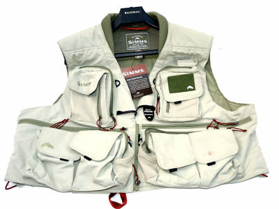 Simms Guide Vest Xl fly fishing waistcoat with tags