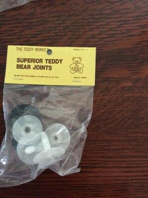 Teddy Bear, Doll Joint Sets, 30mm , 2 Ea3-piece sets, plastic