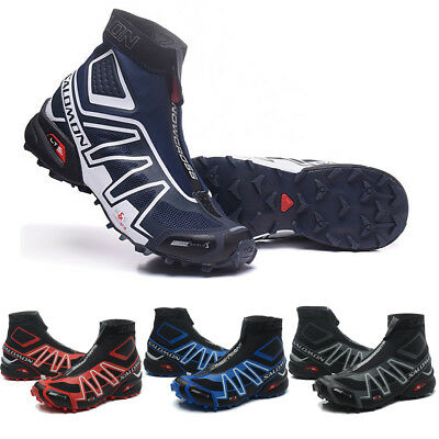 Salomon Snowcross Sneakers Warm Sports Shoes Men Running Shoes High Cut Style