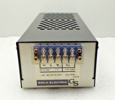 NEW SOLA ELECTRIC 28-24-250 POWER SUPPLY 24 vDC 5 amp