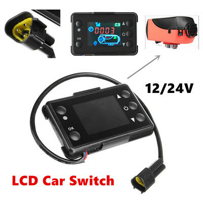12/24V LCD switch Parking Heater Controller For Auto Track Air Diesel Heater