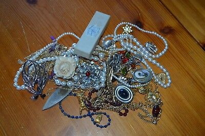Large Mixed Lot of Vintage and Contemporary Costume Jewelry - Art Project Beads