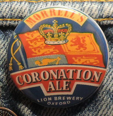 Pin Button Badge Ø38mm  BEER LABEL, MORRELL'S, CORONATION ALE