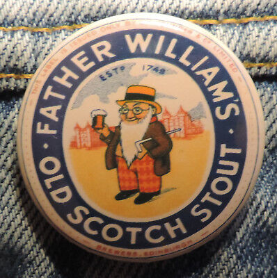 Pin Button Badge Ø38mm  Father Williams OLD Scotch Stout