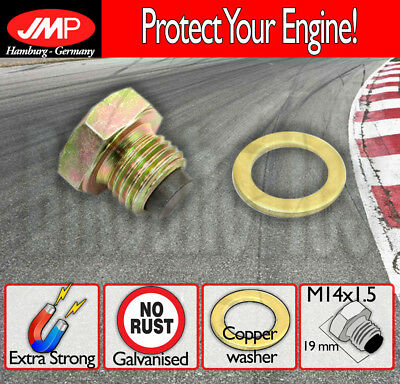JMP Magnetic Oil Drain Plug - M14x1.5 + washer for Yamaha XVS