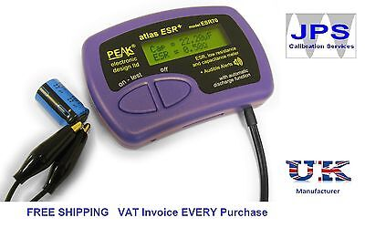 ESR and Capacitance Meter Tester Peak Atlas ESR70 ESR Plus JPST003 VAT Invoice